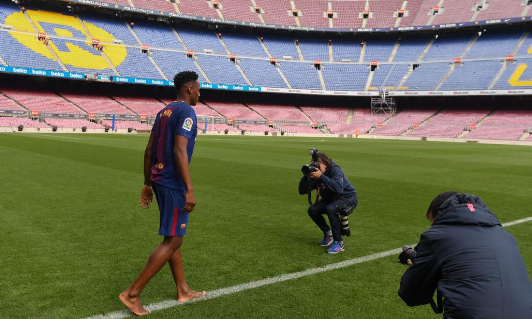 New Barcelona Signing Yerry Mina Unveiled