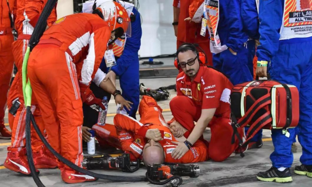 Francesco Cigarini accident F1