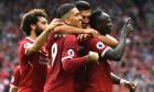 Salah, Mane și Firmino, atacanții lui Liverpool
