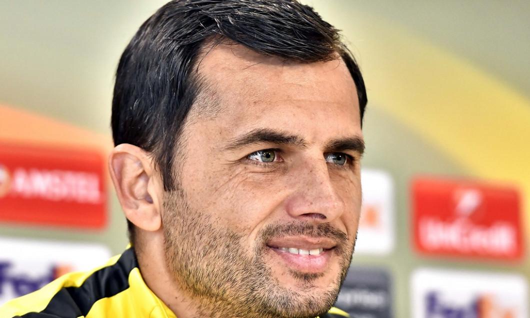 FOTBAL:CONFERINTA DE PRESA FC STEAUA BUCURESTI MECI HAPOEL BEER SHEVA, LIGA EUROPA (1.11.2017)