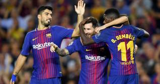 Suarez Messi Dembele Barcelona PSG transfer