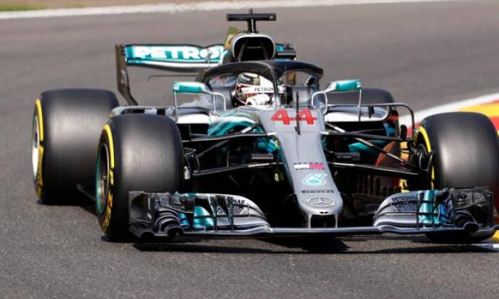 Hamilton pole la Spa