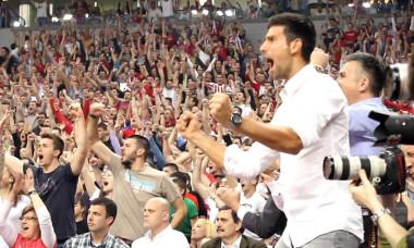Djokovic bucurie fotbal