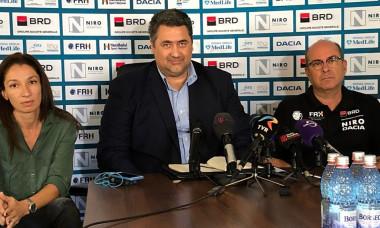 Cristina Vărzaru, Mihai Dedu şi noul selecţioner al României, Manuel Montoya