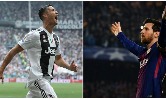 Cristiano Ronaldo Messi UEFA Champions League