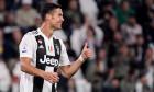 Cristiano Ronaldo în timpul unui meci câștigat de Juventus