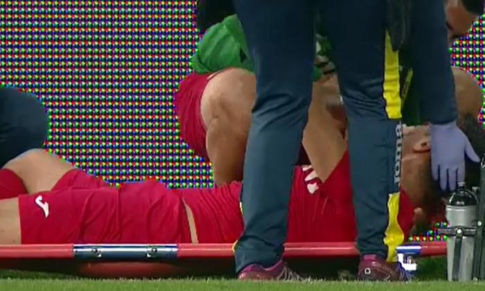 VIDEO Andrei Trașcu, de la CS Mioveni, a suferit o fractură de piramidă nazală la meciul cu Petrolul, de la Ploiești