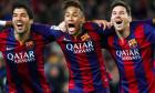 Neymar, Messi și Suarez
