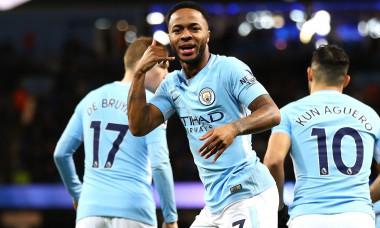 Jucătorii lui Manchester City se bucură după un gol marcat