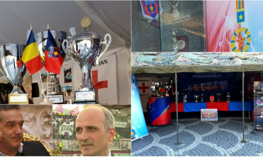 Gigi Becali - Florin Talpan - trofee Steaua
