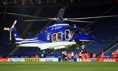 elicopter leicester king power stadium