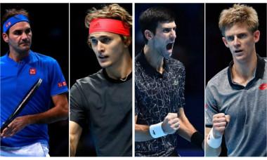 Roger Federer - Alexander Zverev si Novak Djokovic - Kevin Anderson, semifinalele Turneului Campionilor 2018 re