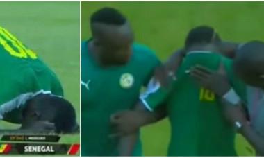 Sadio Mane in lacrimi dupa victoria Senegalului