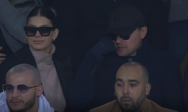Leonardo DiCaprio si Camila Morrone la PSG - Liverpool in UEFA Champions League