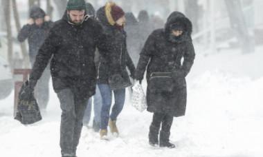 Ciclon în România. A intrat în vigoare codul galben de ninsori
